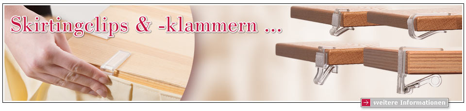 Skirtingclips und Skirtingklammern